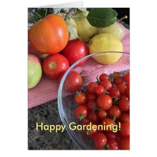 野菜園芸の挨拶状 カード