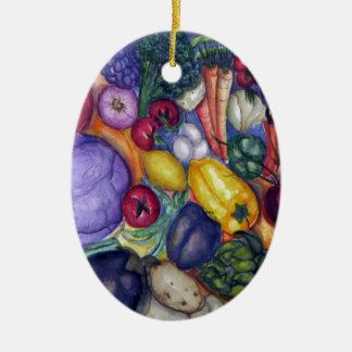 野菜水彩画の芸術 セラミックオーナメント