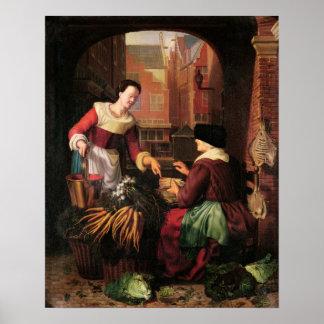 野菜販売人 ポスター