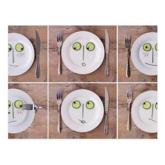 野菜顔 ポストカード