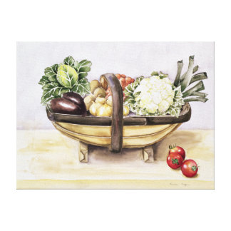野菜1996年のtrugが付いている静物画 キャンバスプリント