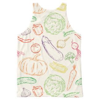 野菜 オールオーバープリントタンクトップ