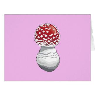 野菜-斑点を付けられたきのこ(Toadstool) -赤 ビッググリーティーングカード