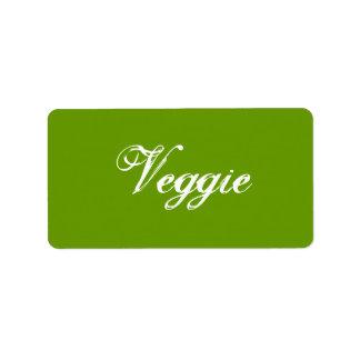 野菜。 緑。 スローガン ラベル