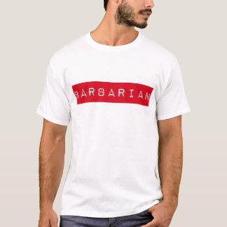 野蛮なラベルのTシャツ Tシャツ