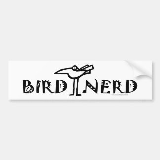 野鳥観察する野鳥観察鳥類学 バンパーステッカー