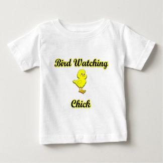 野鳥観察のひよこ ベビーTシャツ