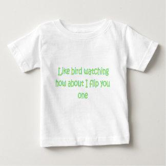 野鳥観察のように… ベビーTシャツ