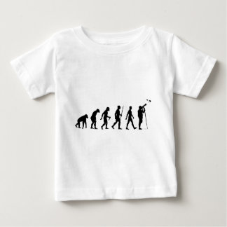 野鳥観察の進化 ベビーTシャツ