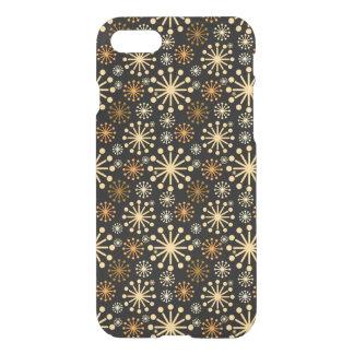 金および銀製の雪片パターンフェスティバル iPhone 8/7 ケース