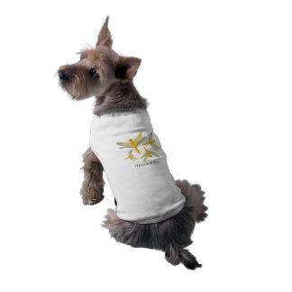 金および黄色のトンボ ペット服