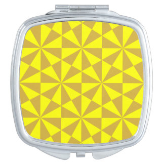 金および黄色の三角形パターン