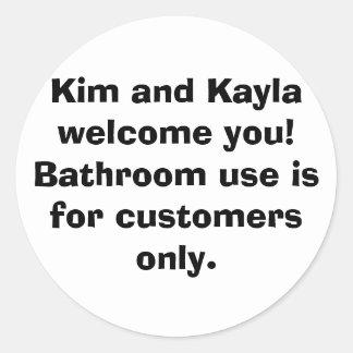金およびKaylaの歓迎! 浴室の使用はのために…あります ラウンドシール