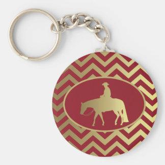 金またはボルドーの喜びの馬 キーホルダー