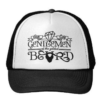 金めっきされたひげの黒のロゴ-帽子 ハット