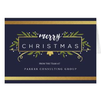 金めっきされたクリスマス企業のなカード グリーティングカード