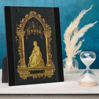 金めっきされた表紙の旧式なユダヤ人の祈祷書ハナ フォトプラーク