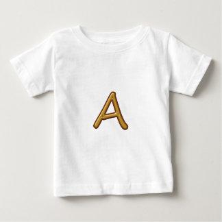 金アルファベットオウムAAA: ヴィンテージの基盤 ベビーTシャツ