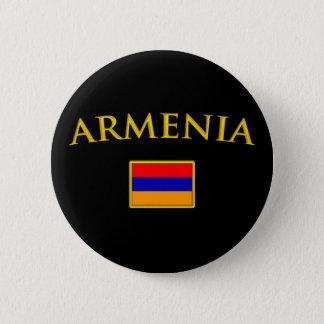 金アルメニア 5.7CM 丸型バッジ