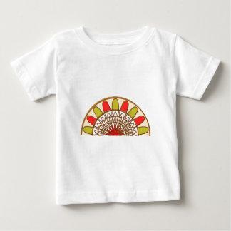 金アーク: 日曜日の日光のデザイン ベビーTシャツ