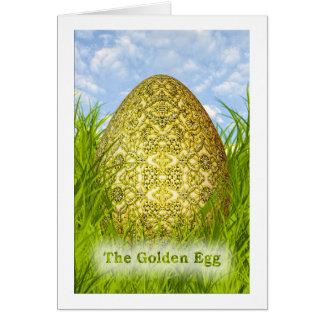 金イースターエッグ-金属華美なエンボス カード