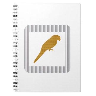 金オウムペットFairrytaleの鳥NVN279のおもしろいの子供 ノートブック