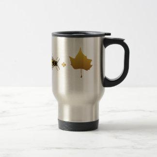 金カエデの葉=蜂と蜂 + 葉(確信) トラベルマグ
