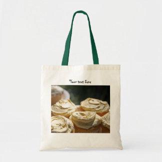 金カップケーキのデザイン トートバッグ