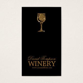 金ガラスワインメーカーのソムリエの黒カード 名刺
