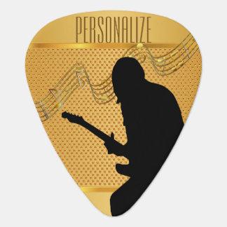 金ギタリスト| DIYの文字 ギターピック