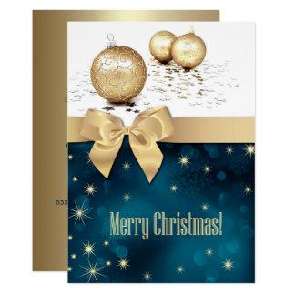 金クリスマスのつまらないもののデザインのパーティの招待状 カード
