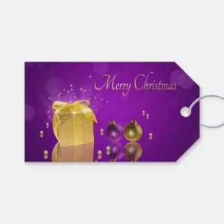 金クリスマスのギフト用の箱-ギフトのラベル ギフトタグ