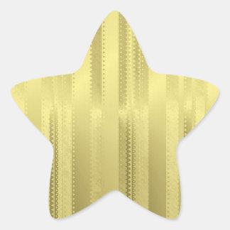 金クリスマスのリボンはホイルの紙で縞で飾ります 星シール