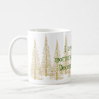 金クリスマスツリーの朝人のマグ コーヒーマグカップ