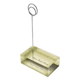 金グリッターの紙吹雪 テーブルカードホルダー