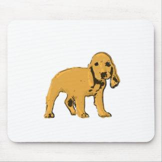 金コッカースパニエルの子犬のmousepad マウスパッド