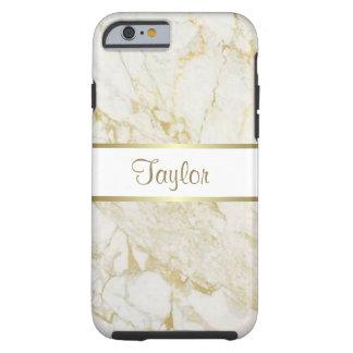 金ゴールドおよび白い大理石の堅いiPhone6ケース iPhone 6 タフケース