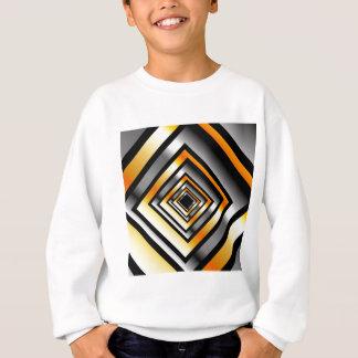 金ゴールドおよび見通しを形作る銀の正方形 スウェットシャツ