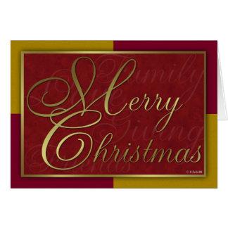 金ゴールドおよび赤いクリスマスカード カード