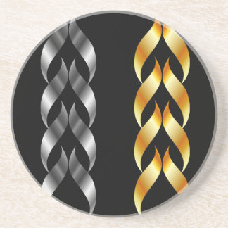 金ゴールドおよび銀のデザインの要素 コースター
