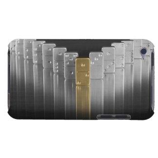 金ゴールドおよび銀のドミノ Case-Mate iPod TOUCH ケース