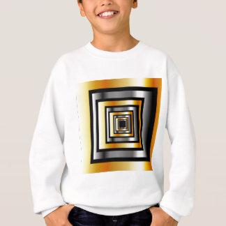 金ゴールドおよび銀の正方形 スウェットシャツ