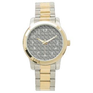 金ゴールドおよび銀の腕時計 腕時計