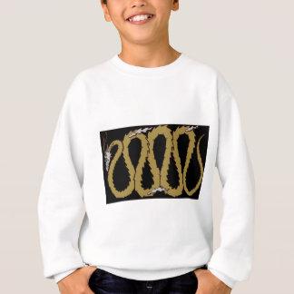 金ゴールドおよび銀製のドラゴンのプレート スウェットシャツ