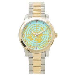 金ゴールドおよび銀製の調子国連とツートーン 腕時計