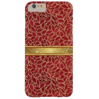 金ゴールドおよび銅はiPhone 6のプラスの場合を設計します Barely There iPhone 6 Plus ケース