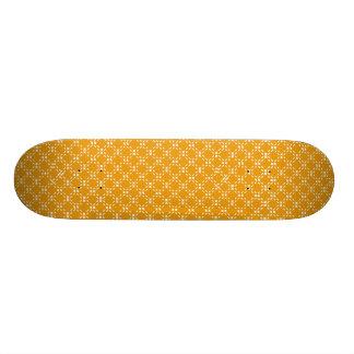 金ゴールドか白く点々のあるな正方形のスケートボードのデッキ 18.4CM ミニスケートボードデッキ