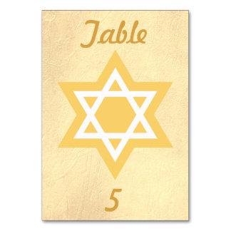 金ゴールドそして白いダビデの星 カード