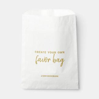 金ゴールドであなた自身の好意のバッグを作成して下さい フェイバーバッグ