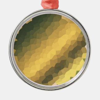 金ゴールドによって着色されるオーナメント メタルオーナメント